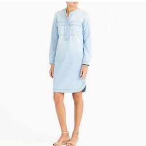 JCrew Chambray Long Sleeve Dress